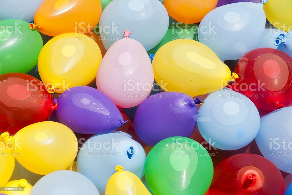 Water Balloons Ready for Battle stock photo