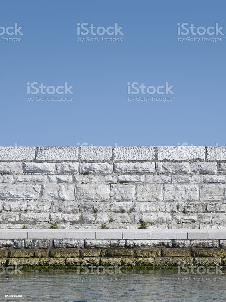 Water barrier royalty-free stock photo