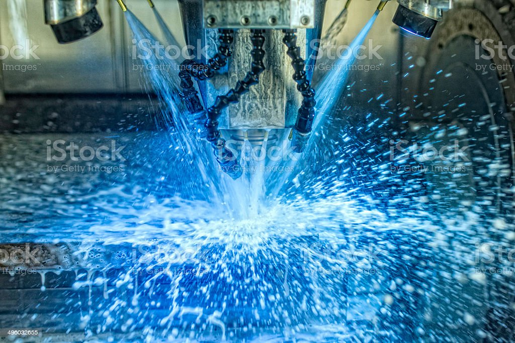 Water Based Milling Process stock photo