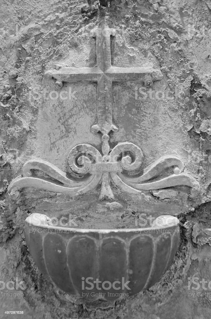 Water Basin in a First Century House, Rome, Italy stock photo