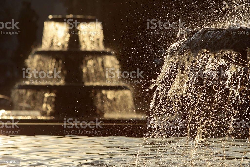Water basin of fountain stock photo