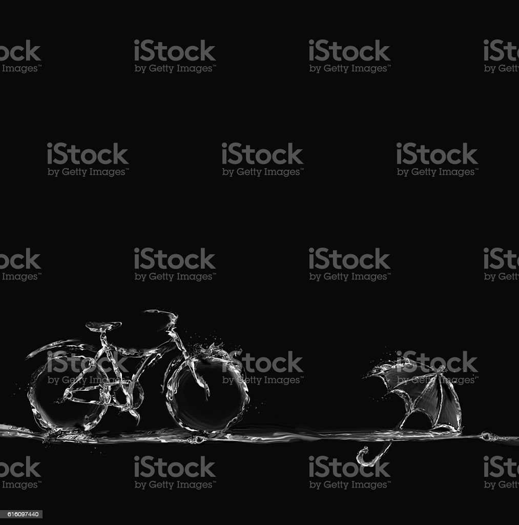 Water Bicylce and Umbrella royalty-free stock photo
