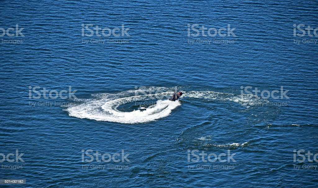 Water bike scooter active sports royalty-free stock photo