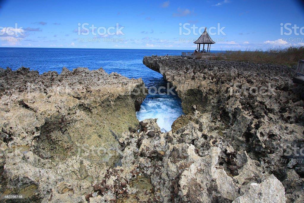 Water Blow, Nusa Dua, Bali Indonesia stock photo