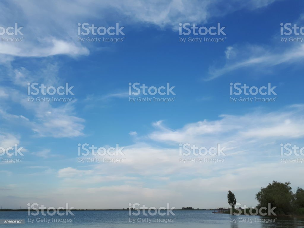 Water & Blue Sky stock photo