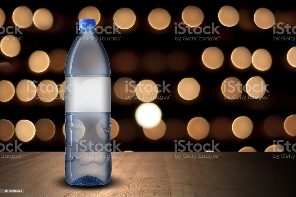 water bottle and glass royalty-free stock photo