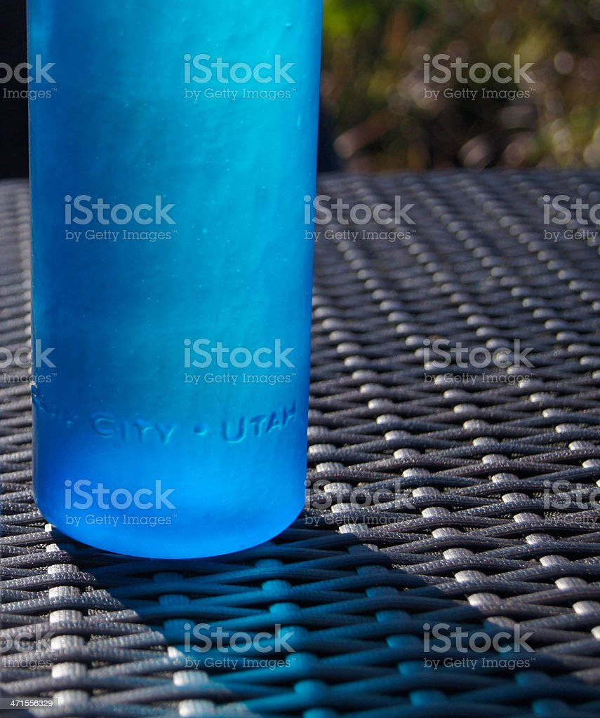 Water Bottle - Blue royalty-free stock photo