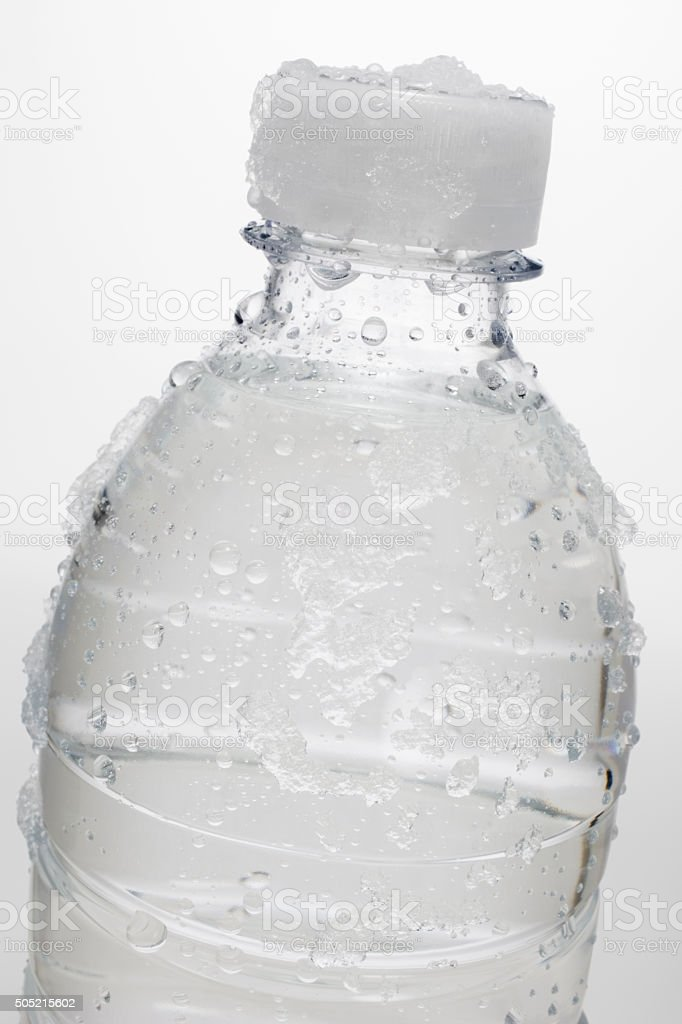 Water bottle, close up stock photo