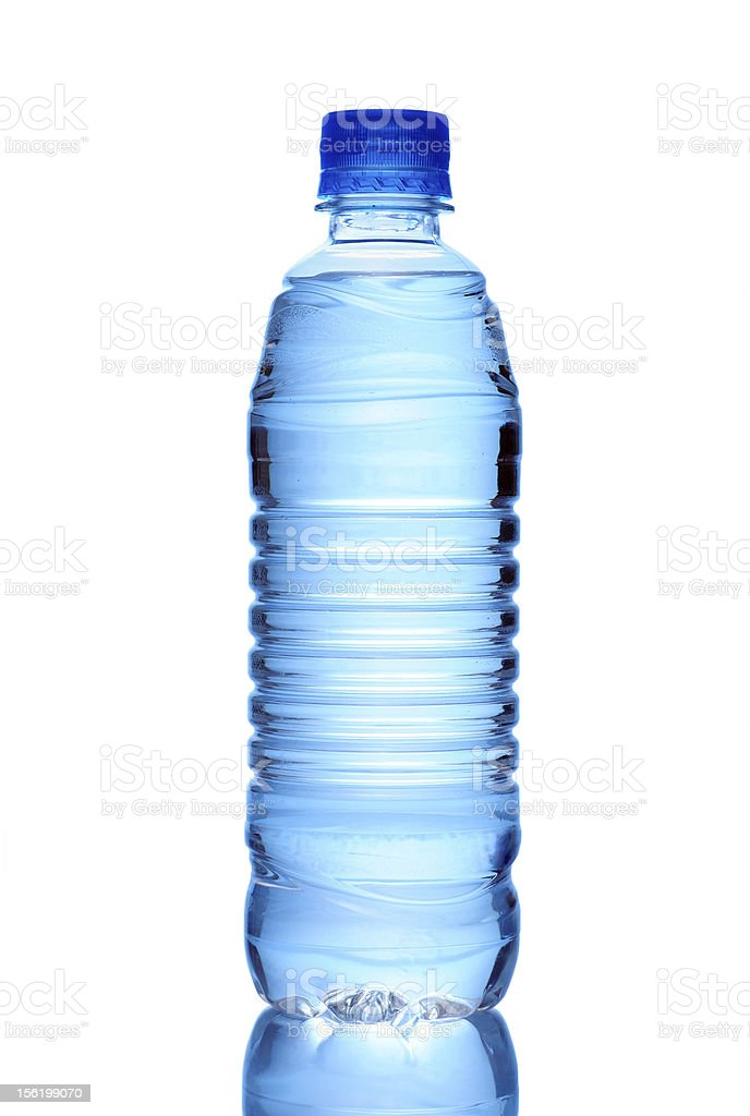 Water Bottle Isolated on White royalty-free stock photo