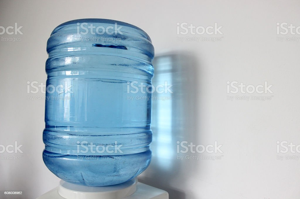 Water bottle on holder stock photo