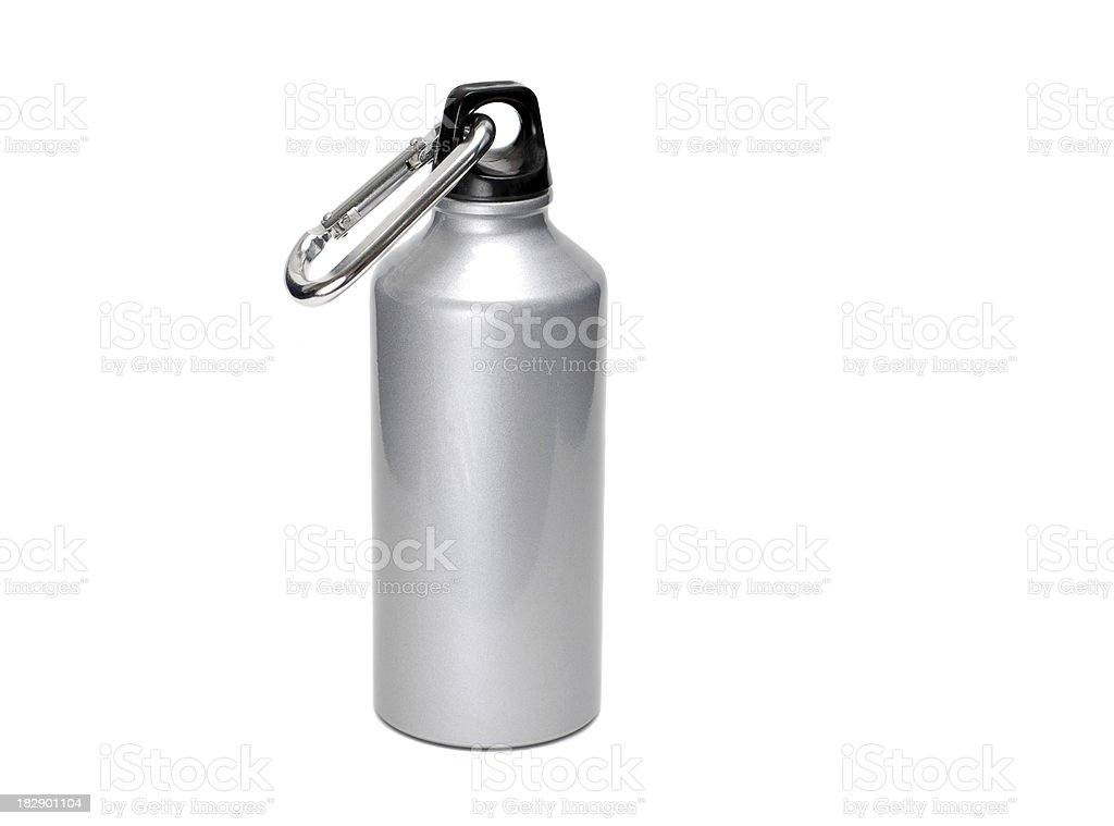 Water Bottle with Carabiner royalty-free stock photo