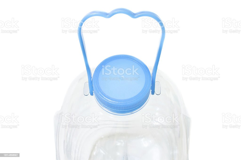 Water bottle with handle royalty-free stock photo