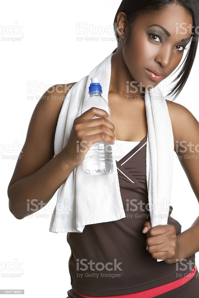 Water Bottle Woman royalty-free stock photo