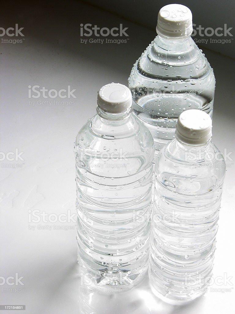 Water Bottles  Large Medium Small stock photo