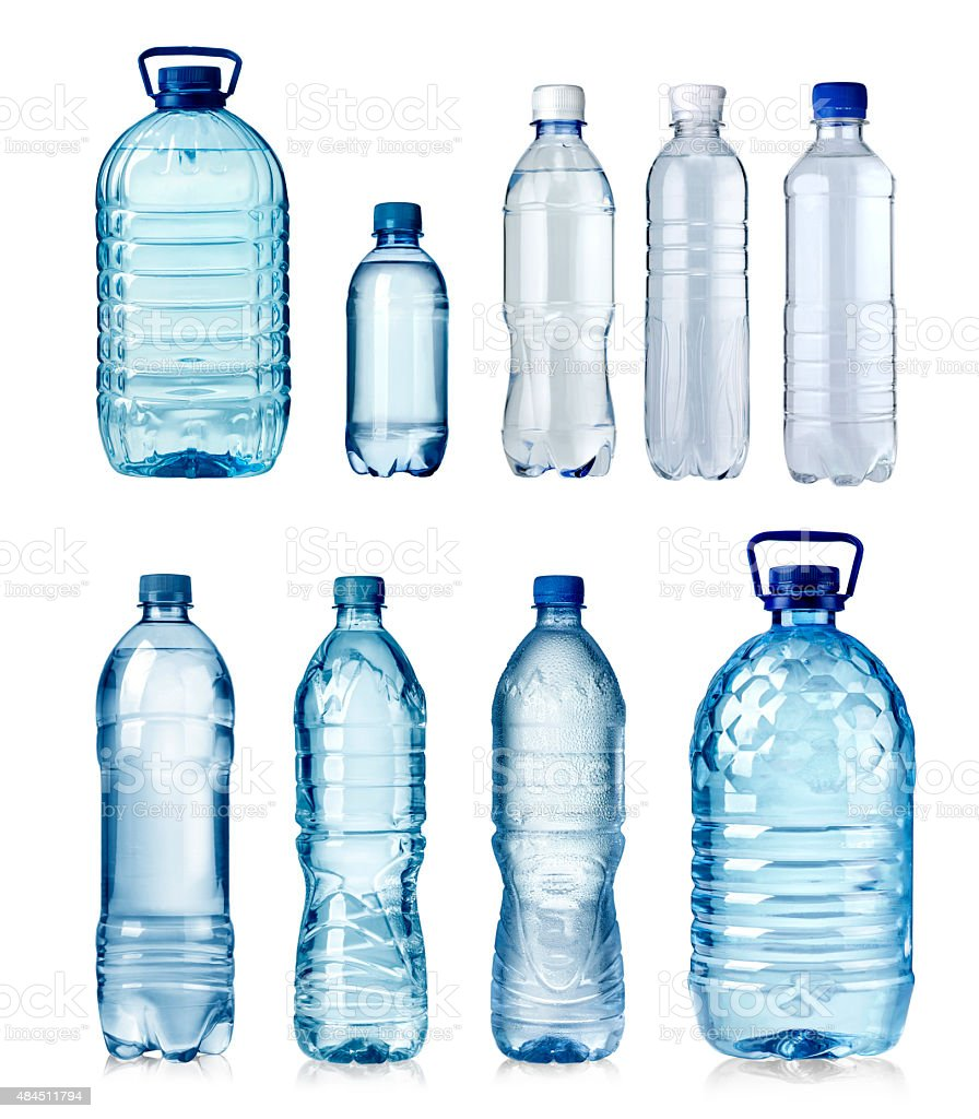 water bottles stock photo
