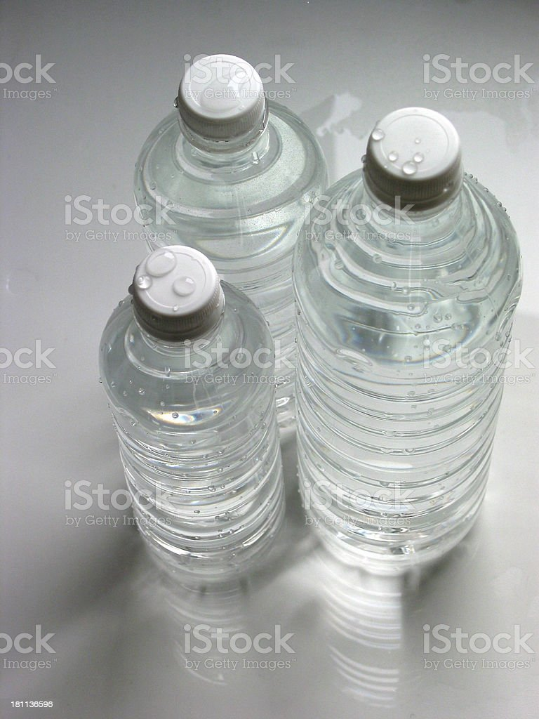 Water Bottles  Small Medium Large stock photo