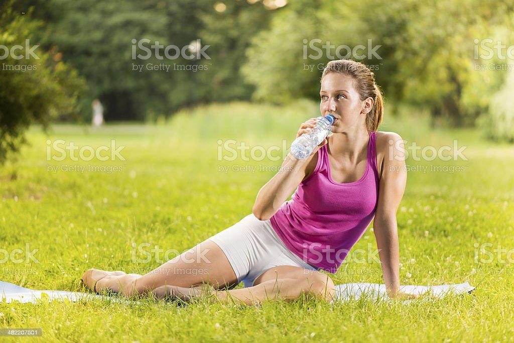 Water break royalty-free stock photo