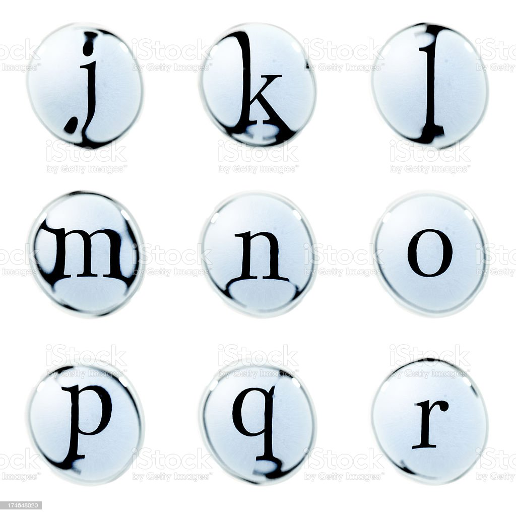 Water Bubble Alphabet royalty-free stock photo
