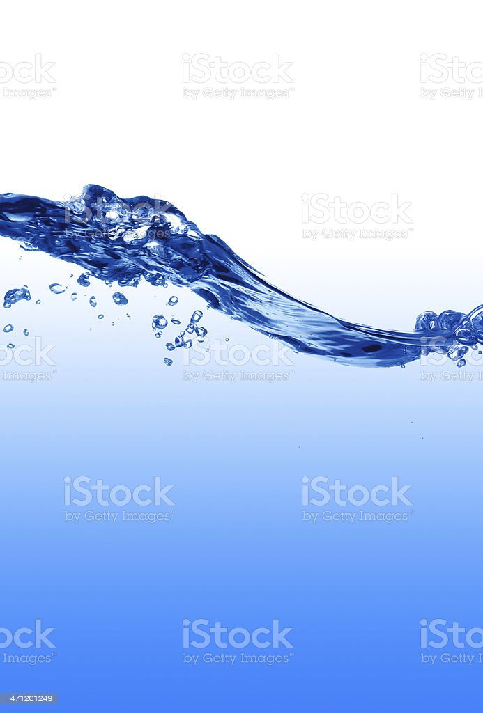 Water bubble and waves. royalty-free stock photo