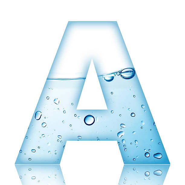 Water Bubble Letter A Stock Photo