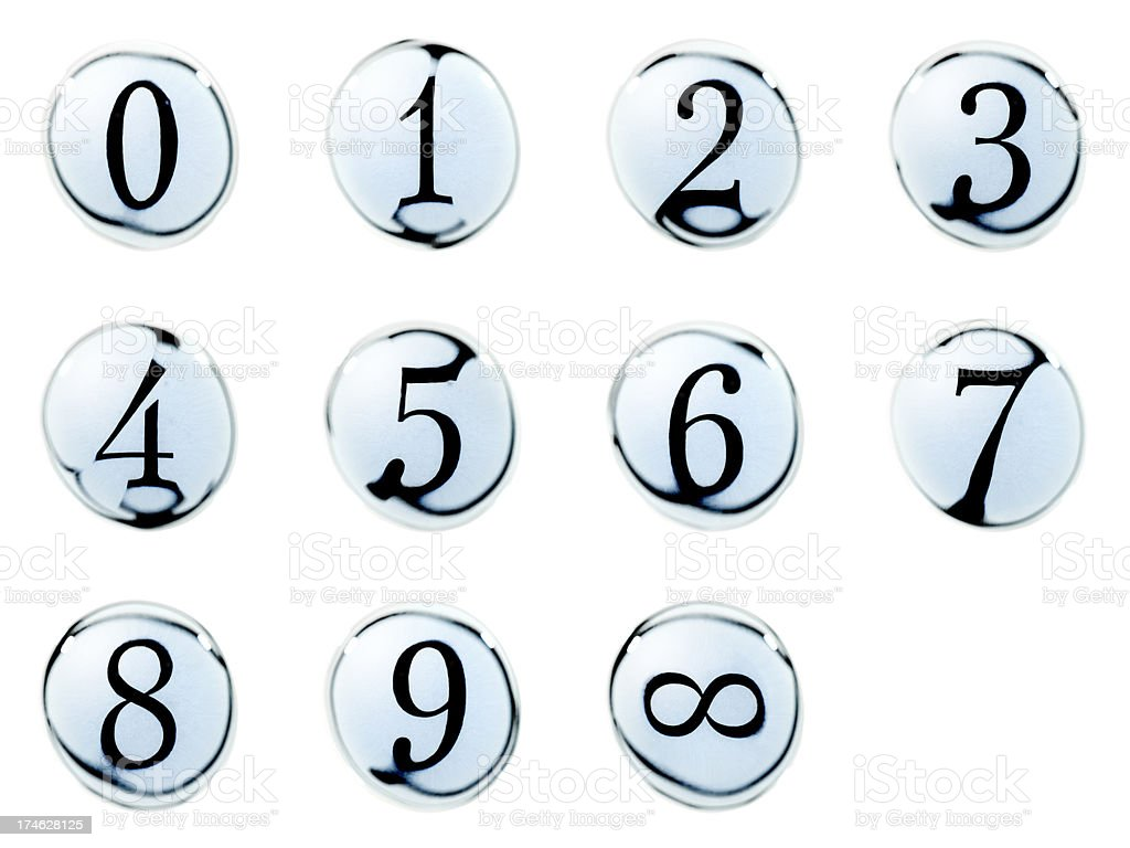 Water Bubble Numbers royalty-free stock photo