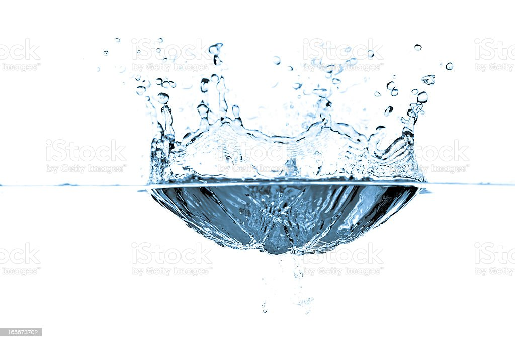 water bubbles and waves in blue stock photo