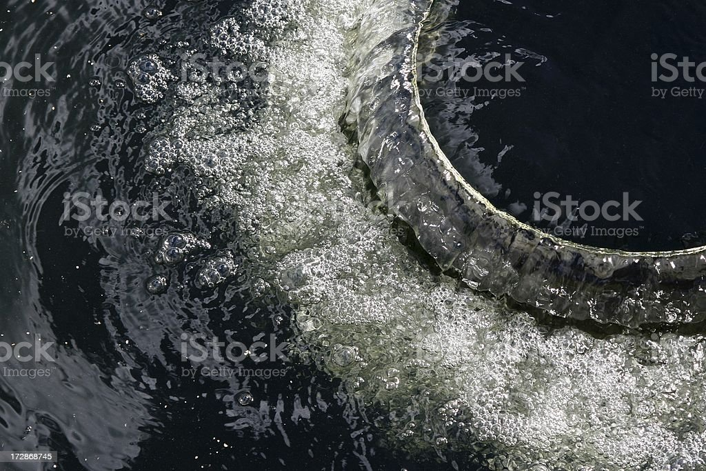 Water Bubbles from treatment plant stock photo