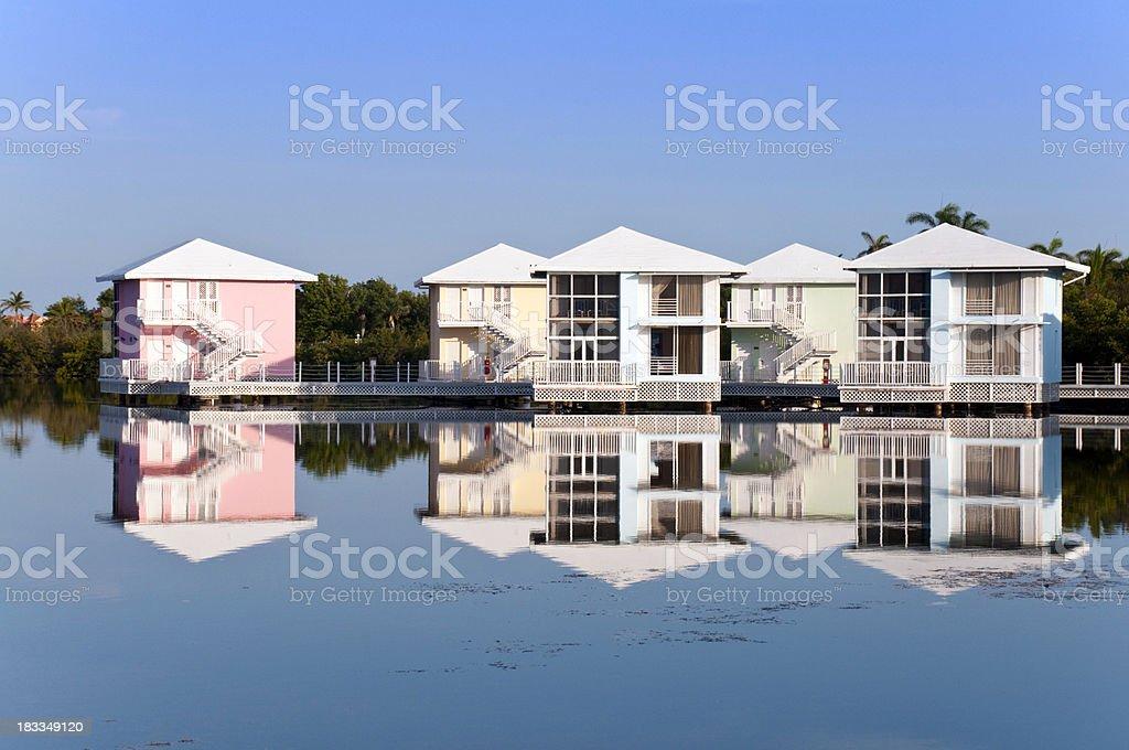 Water Bungaloos stock photo