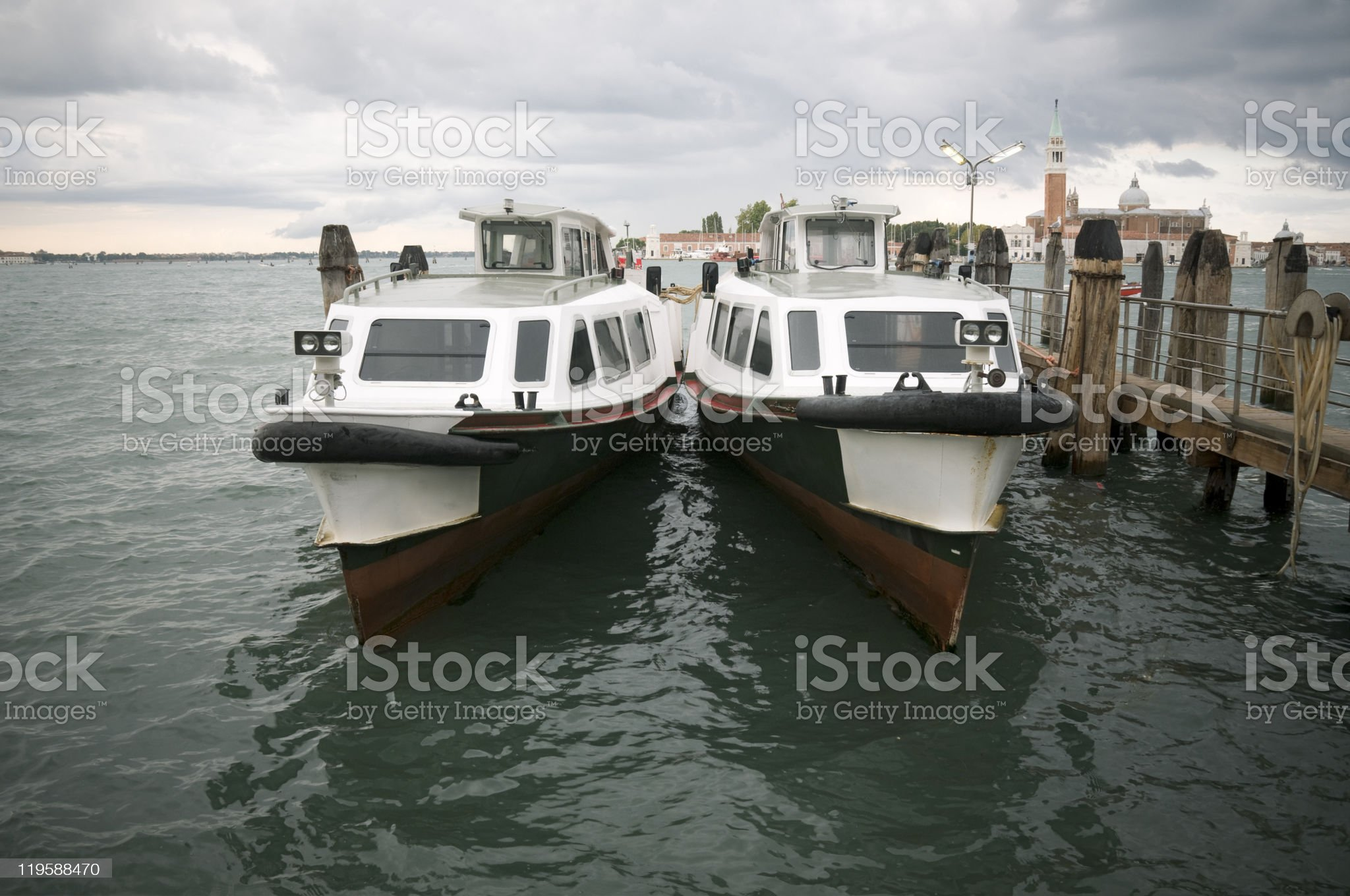 Water buses royalty-free stock photo