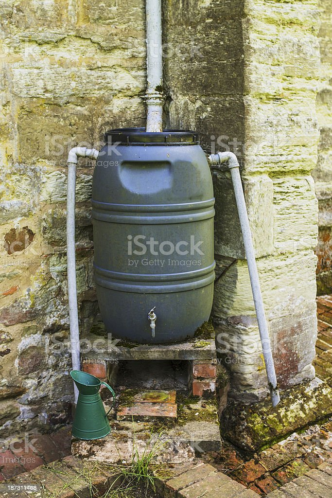 water butt stock photo