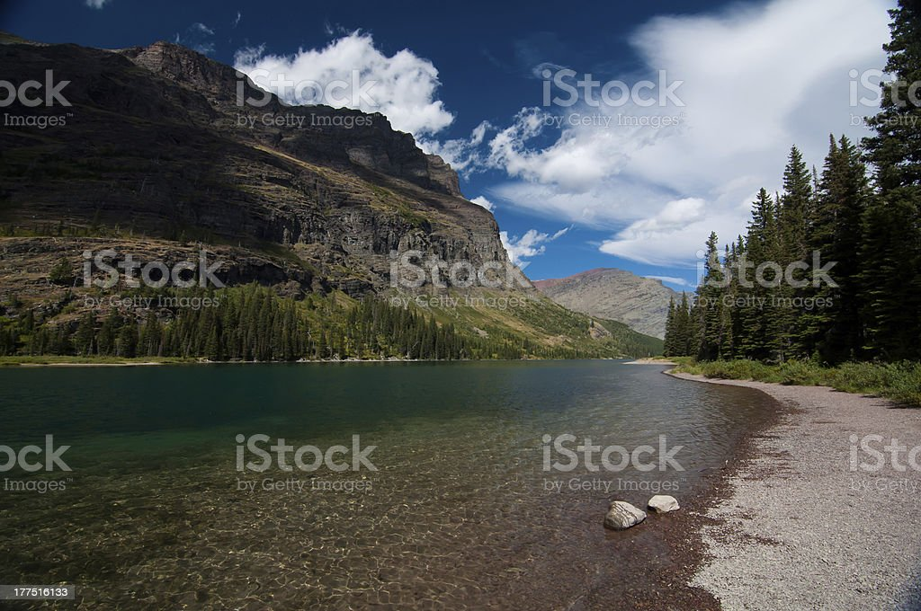 Water by the mountains royalty-free stock photo