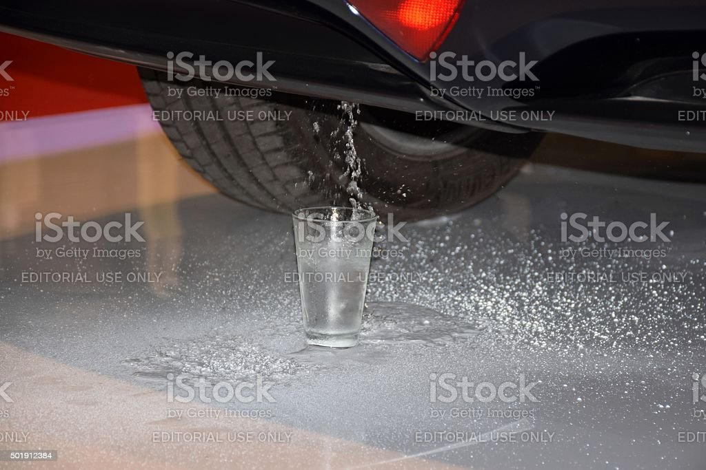 Water - by-product from producing energy in fuel cells stock photo