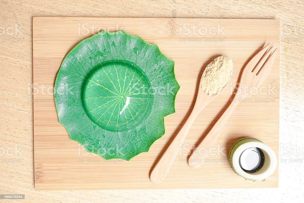 water cake japanese dessert stock photo