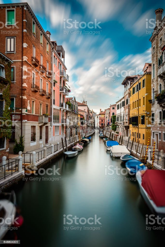Water canal in Venice stock photo