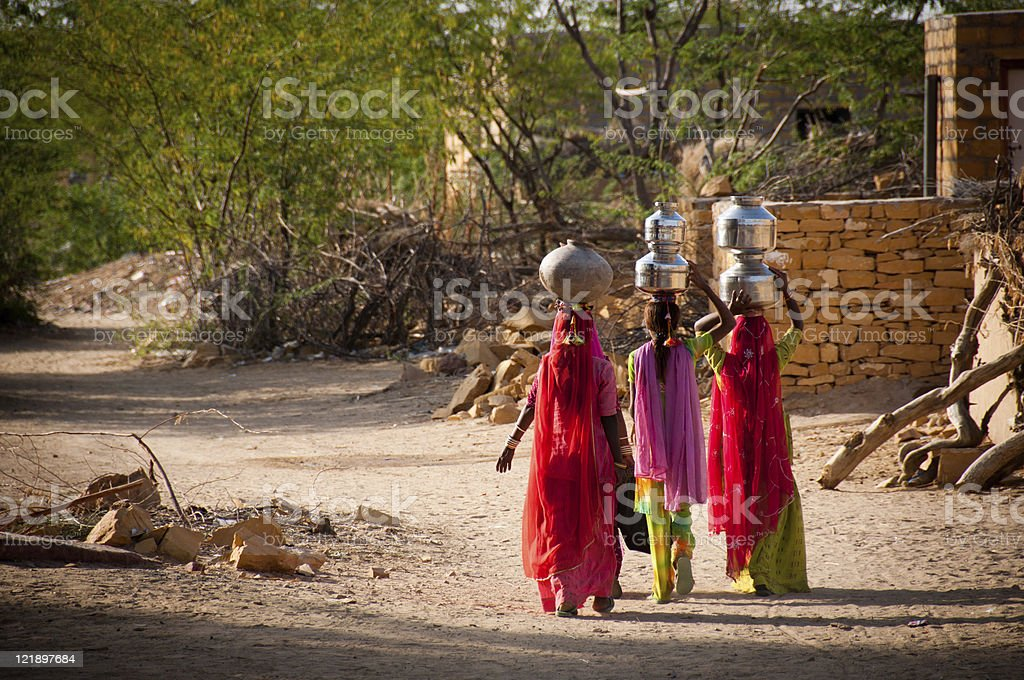 Water carriers stock photo