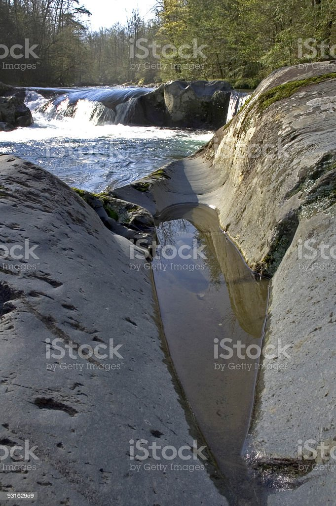 Water Carved Rocks, Great Smoky Mtns NP, TN royalty-free stock photo