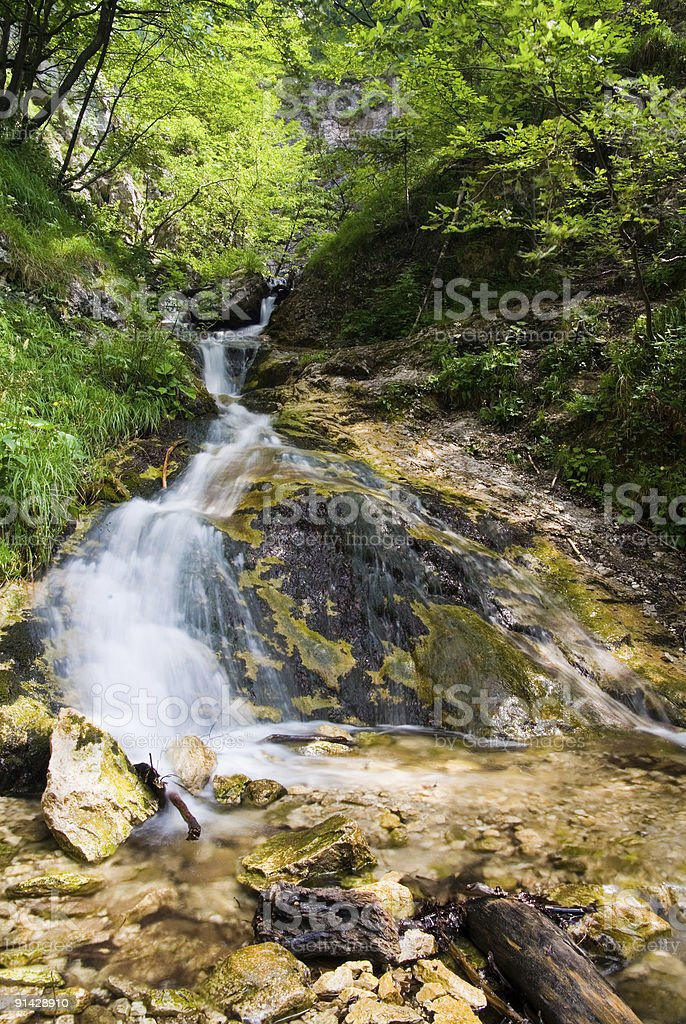 Water cascade royalty-free stock photo