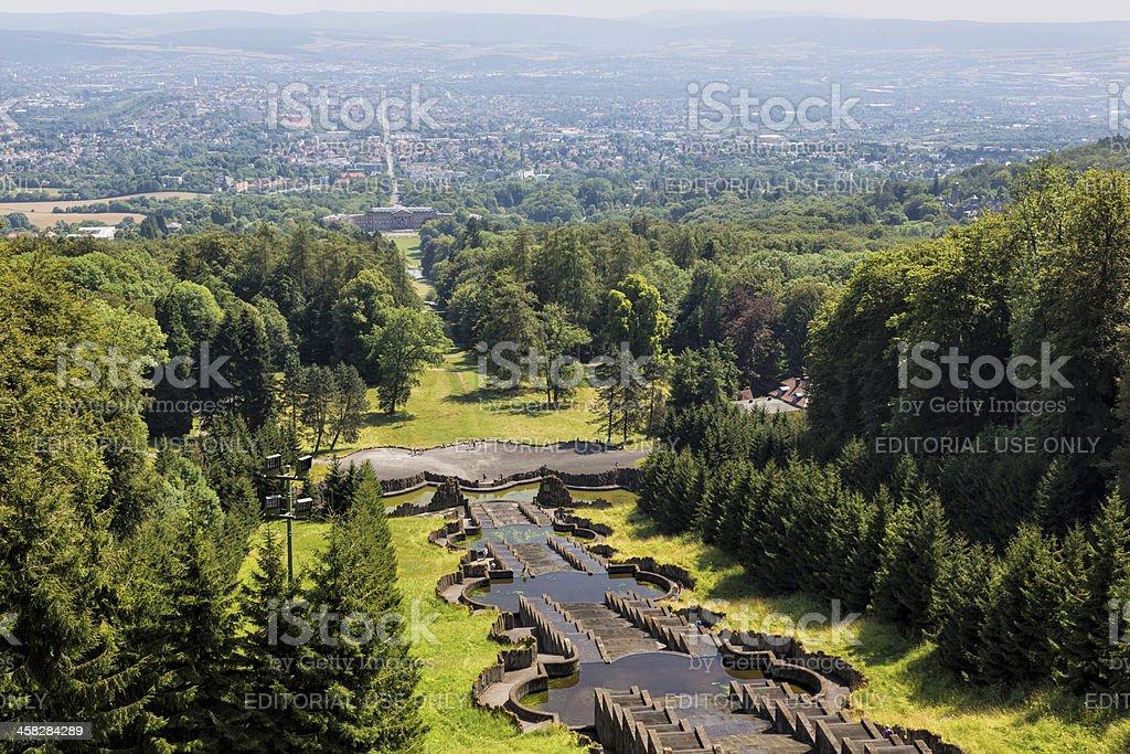 Water Cascades, Bergpark, Kassel, Germany stock photo