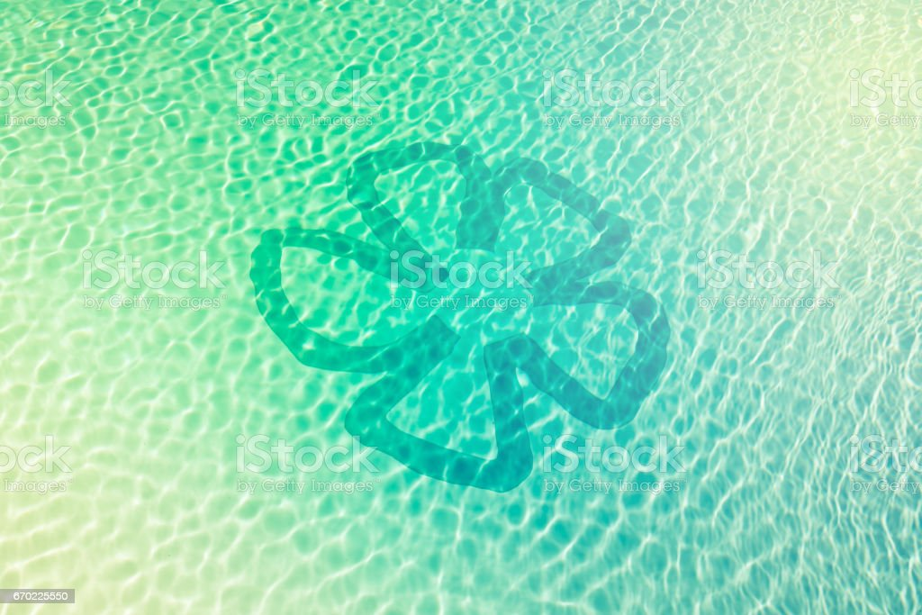 water caustics background with retro effect stock photo