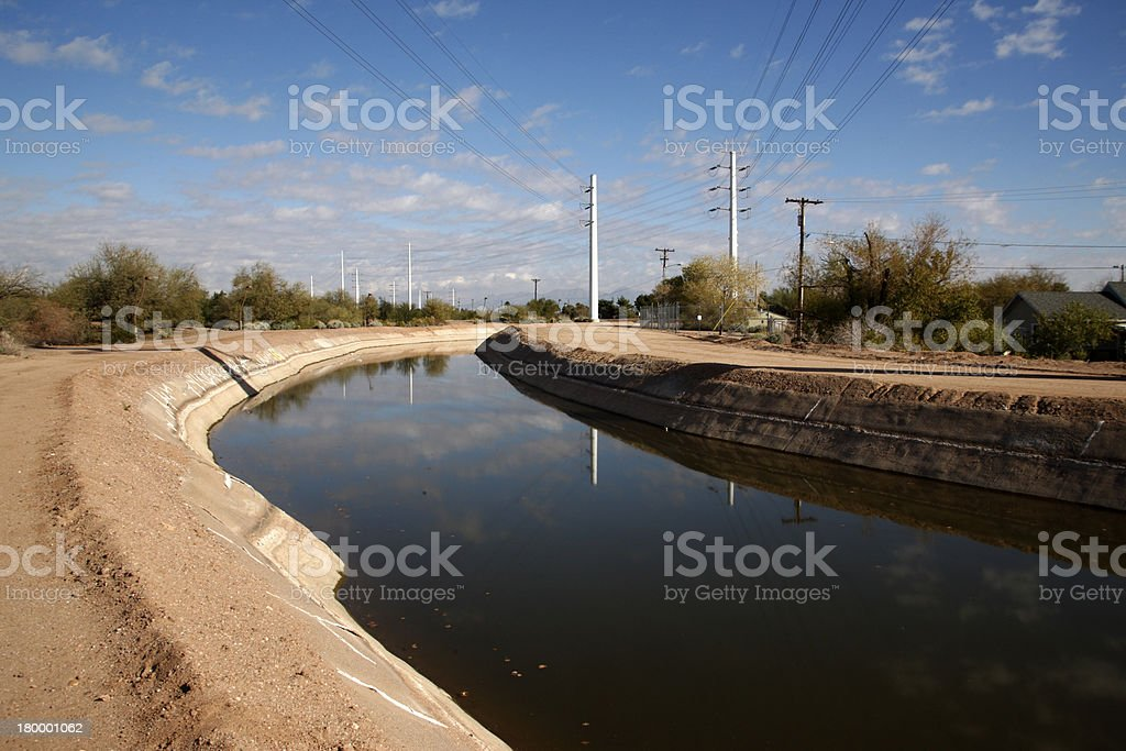 Water channel Papago Park, stock photo
