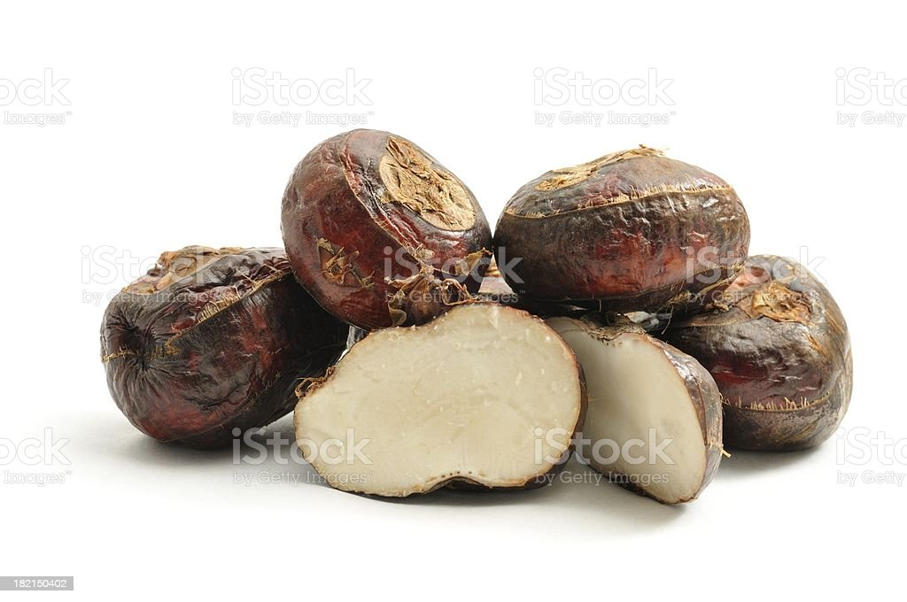 Water chestnut pile stock photo