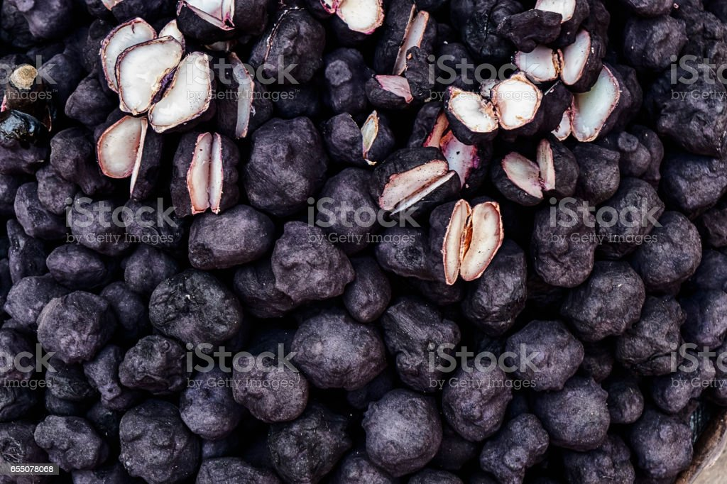 Water Chestnuts In Mumbai stock photo