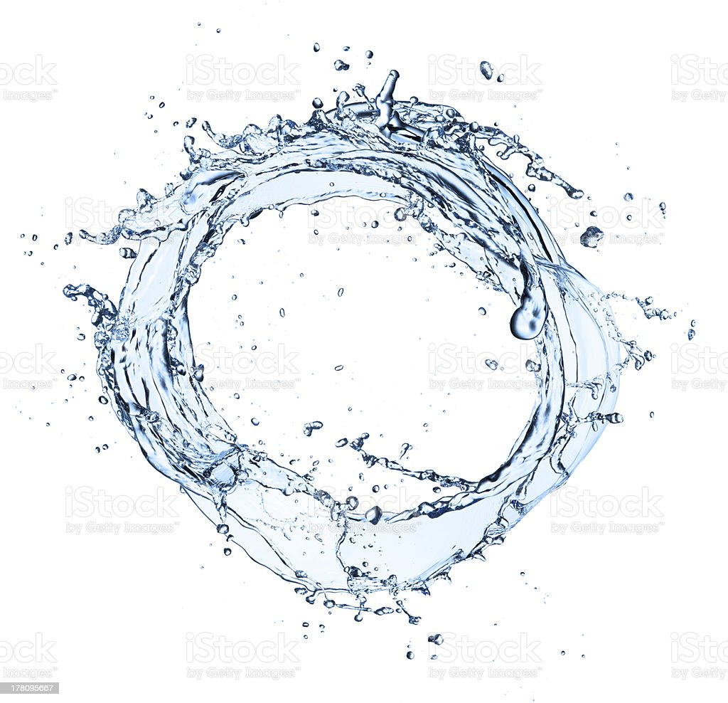 Water circle stock photo
