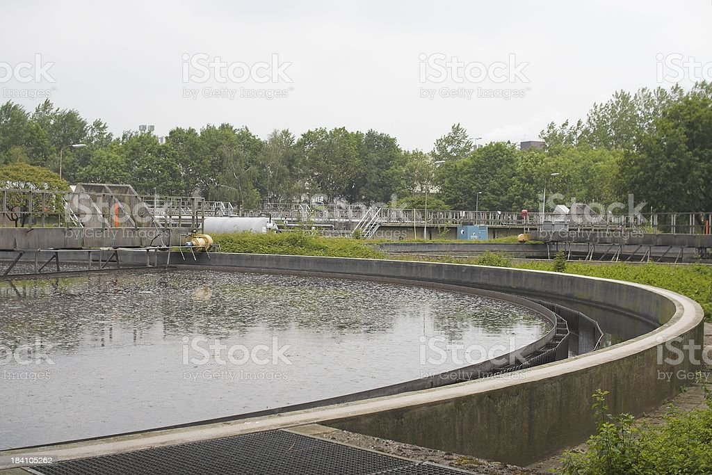 Water cleaning / purification installation royalty-free stock photo
