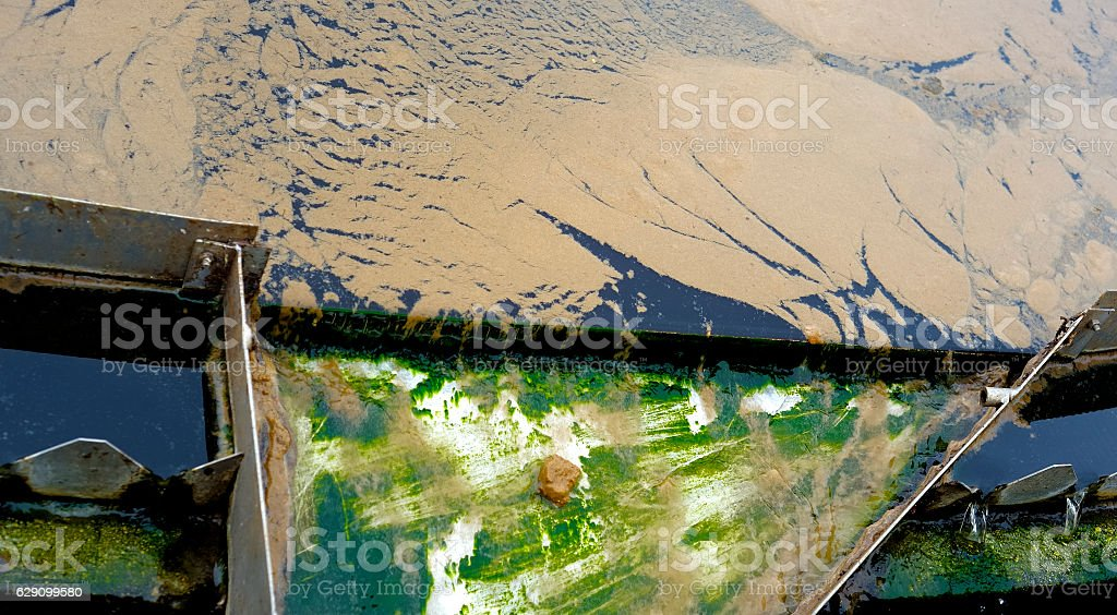 Water cleaning / purification installation stock photo