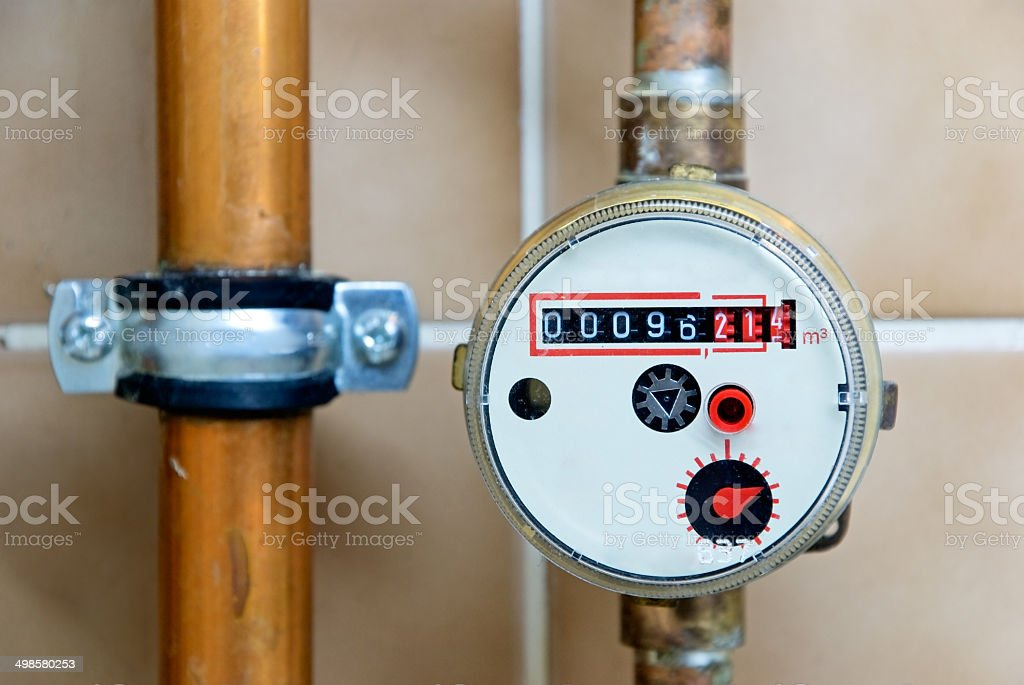 water clock stock photo