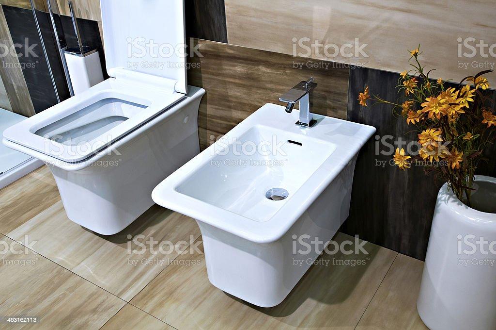 water closet and bidet stock photo