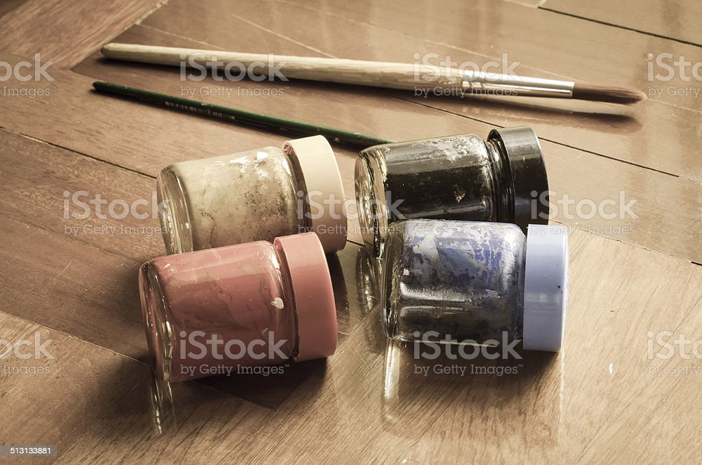 water color bottle stock photo