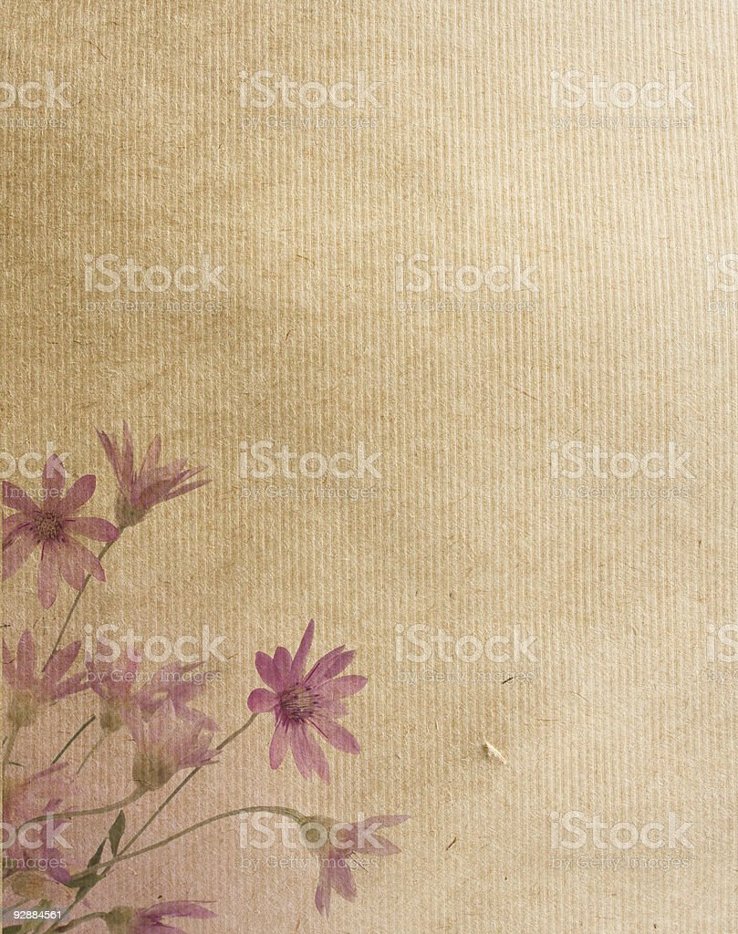 Water colored flowers on the corner of a par royalty-free stock photo