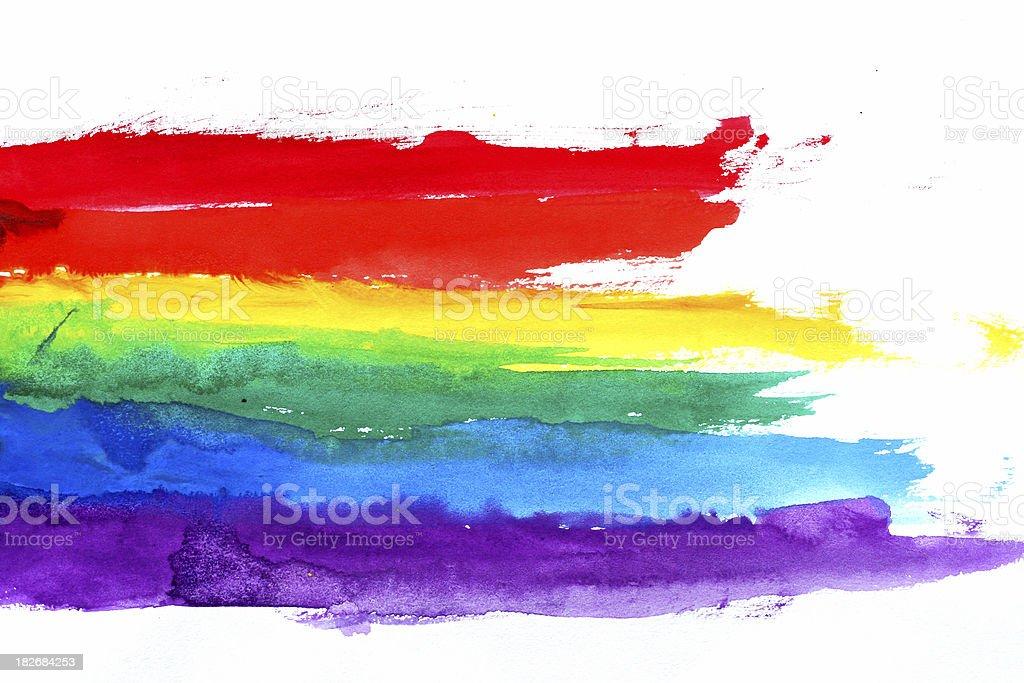 Water Colored Rainbow stock photo